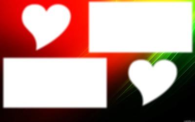 Cadre coeur et carré 4