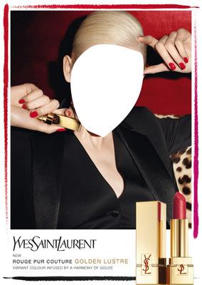 Yves Saint Laurent Rouge Pur Couture Golden Lustre Lipstick Advertising 3