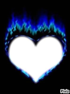 coeur bleue