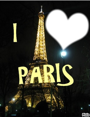 Photo montage I LOVE PARIS - Pixiz