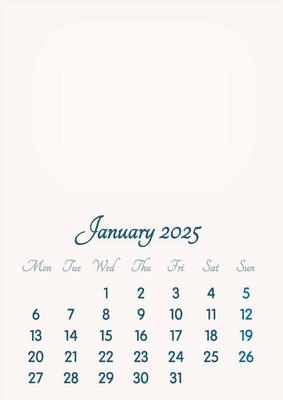 January 2025 // 2019 to 2046 // VIP Calendar // Basic Color // English