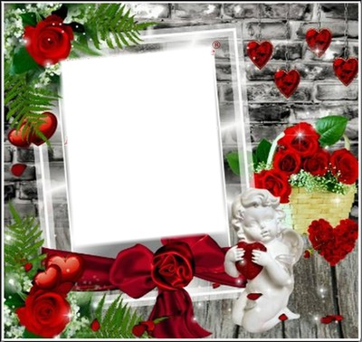 cœur ange fleurs