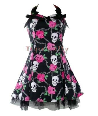 robe tete de mort colorées