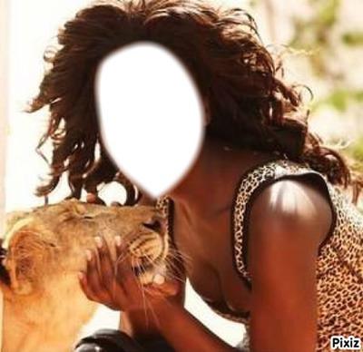 Lion et Femme, pour les noirs!! :)