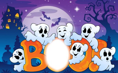 Photo montage Halloween Boo - Pixiz