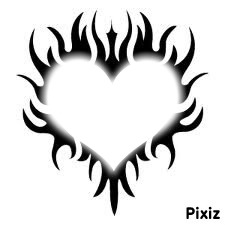 un coeur de tribal