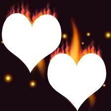 coeur en flamme