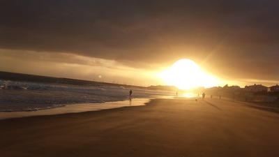 coucher de soleil sur  Jard sur mer