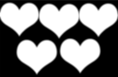coeur au fond noir