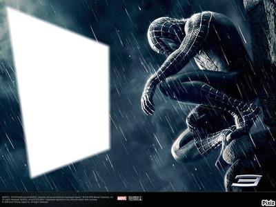 spiderman noir et blanc