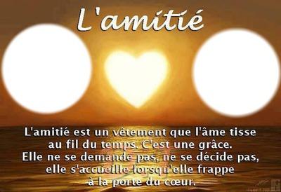 Montage Photo Poeme Amitie Pixiz