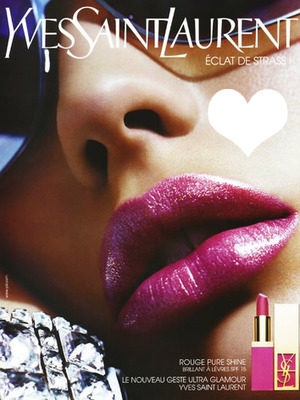Yves Saint Laurent Rouge Pure Shine Advertising