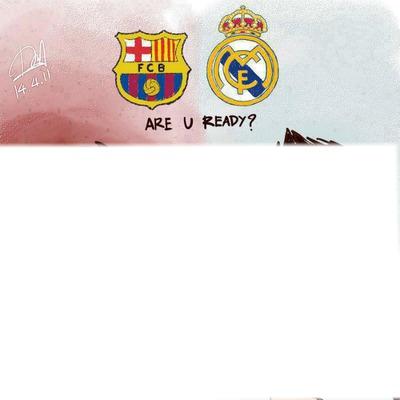 pones una foto de tu amigo que le guste Barcelona Y Real Madrid