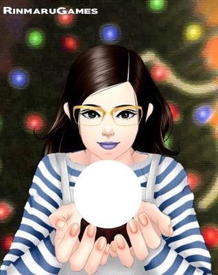 mangá com bola de cristal