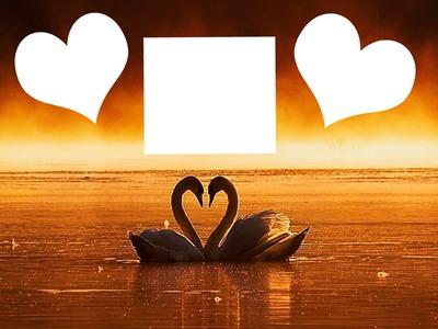 Puesta de sol romantica 3 fotos