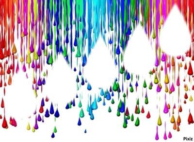 Gouttes d'eau en couleur!