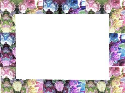 cadre 1 photo décor roses