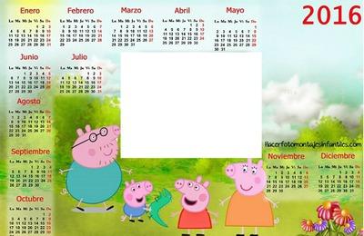Calendario Peppa Pig 2016