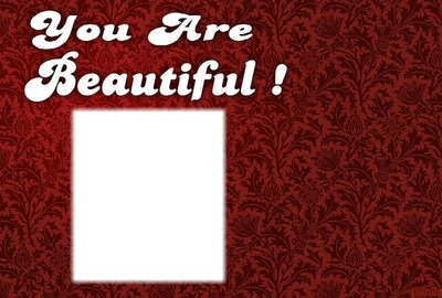 You are beautiful love rectangle 1