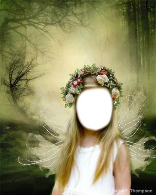 petite fille forêt 1 photo