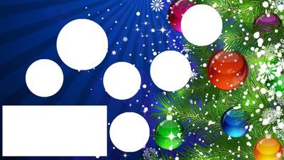 Noël 6 cercles et 1 rectangle