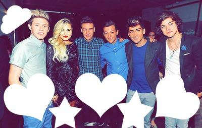 Capa One Direction com Demi Lovato