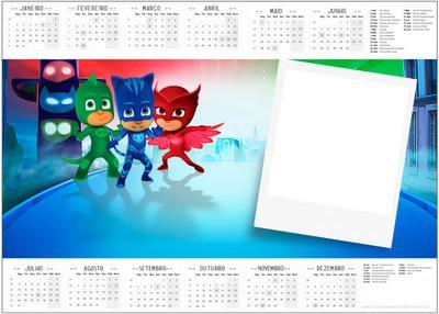 Photosi Calendario.Photo Montage Marco Calendario Pj Mask Pixiz