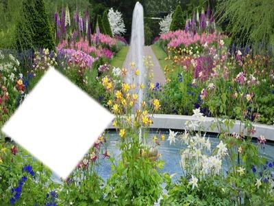 montage photo jardin fleuri pixiz. Black Bedroom Furniture Sets. Home Design Ideas