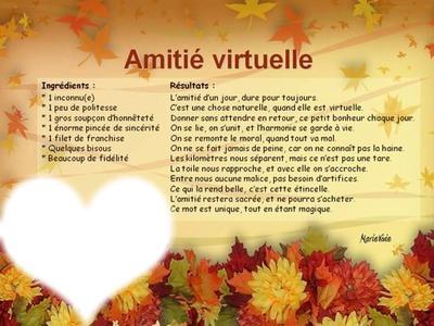Montage Photo Amitié Virtuelle Pixiz