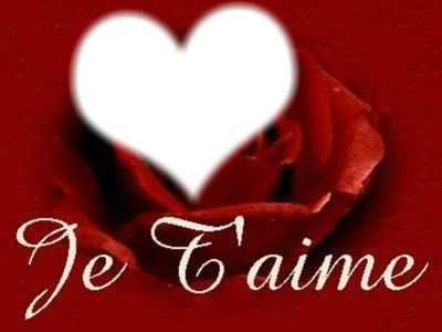 Je t'aime  avec rose rouge