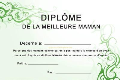 Montage photo diplome de la meilleure maman pixiz for Diplome espace vert
