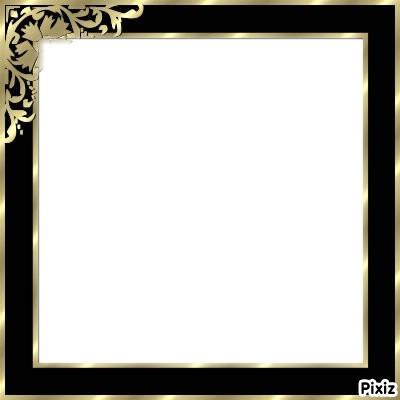 tableau noir et doré