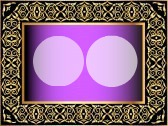 GOLD AND PERPPLE FRAME