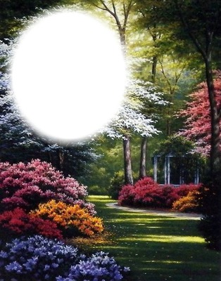 Fotomontage Jardin-fleurs-nature-paysage - Pixiz
