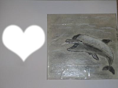 Un dauphin avec coeur (dauphin dessinée par GINO GIBILARO)