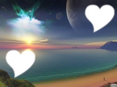 coucher de soleil coeurs