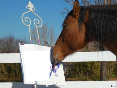 cheval peinture