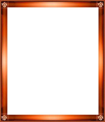 cadre orange brillant