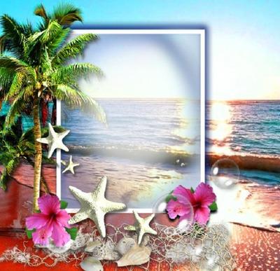 Cadre plage