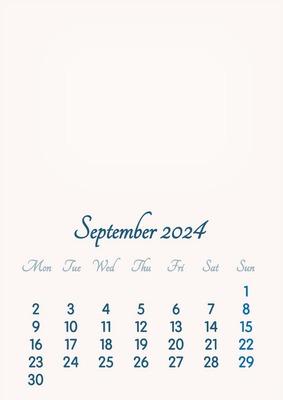 September 2024 // 2019 to 2046 // VIP Calendar // Basic Color // English