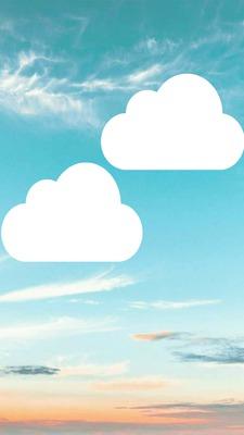 cadre ciel avec 2 nuages photo