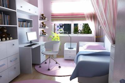 Photo montage Pokój młodzieżowy dla dziewczyny.   Pixiz