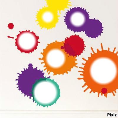 Taches d'encre de couleurs
