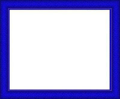 cadre bleu rectangulaire