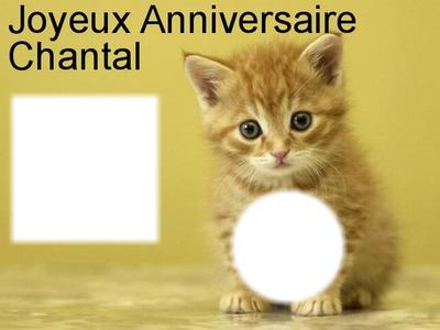 Photo Montage Joyeux Anniversaire Chantal Pixiz