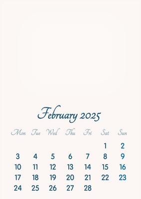 February 2025 // 2019 to 2046 // VIP Calendar // Basic Color // English