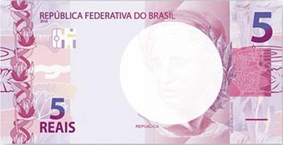 dinheiro do Brasil - 5 reais