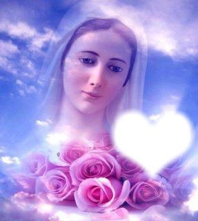 Vierge Marie et roses