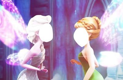 tu cara y la de otra persona siendo adas y al mismo anna y elsa de frozen