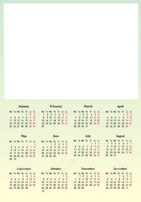 calendrier 2016 + photo